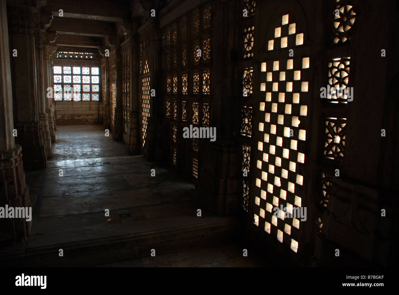 Interior of Sarkhej Rosa, Ahmedabad, India. - Stock Image