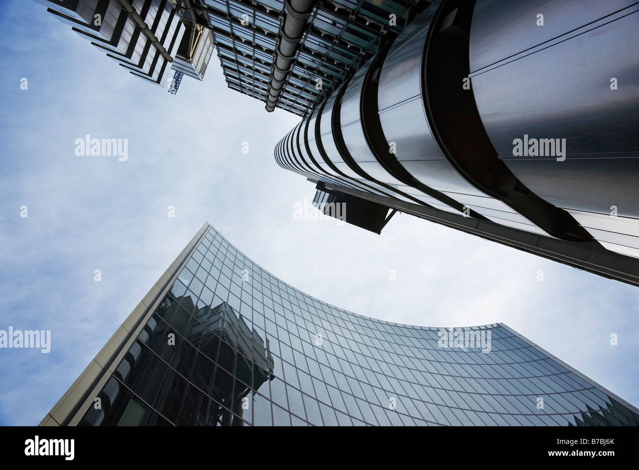 The Lloyds and neighbour building shot from an unusual angle Stock Photo