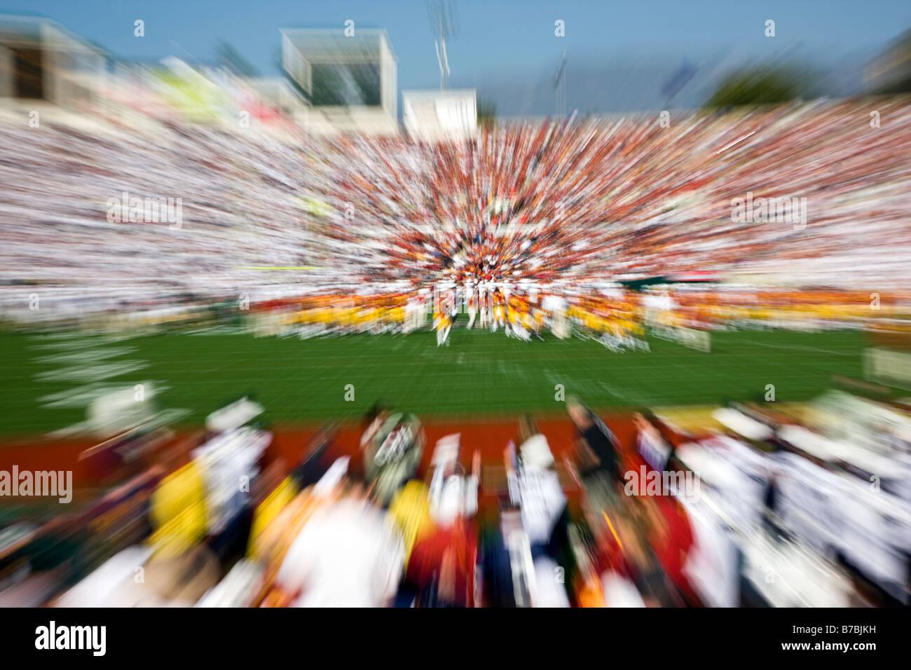 Annual New Years Day Rose Bowl football game.  USC versus PSU, Pasadena, California, USA - Stock Image