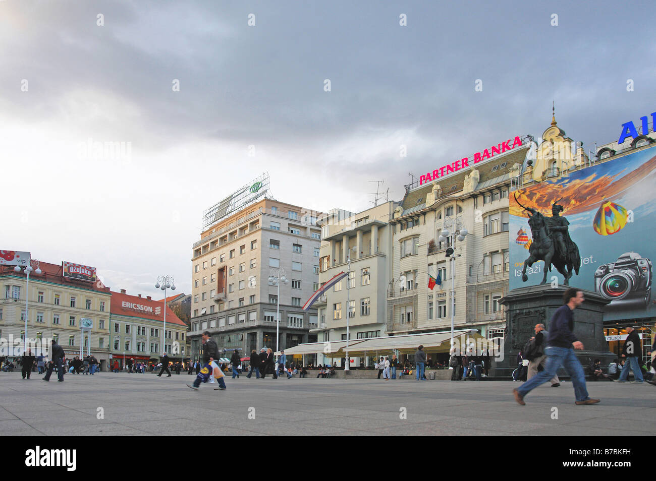 Ban Josip Jelacic main square Stock Photo