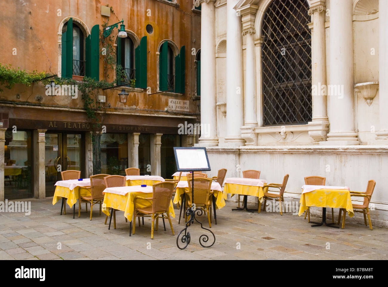 Restaurant at Teatro la Fenice in San Marco district of Venice Italy ...