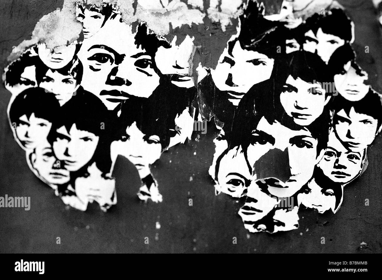 Street art. Children - Stock Image