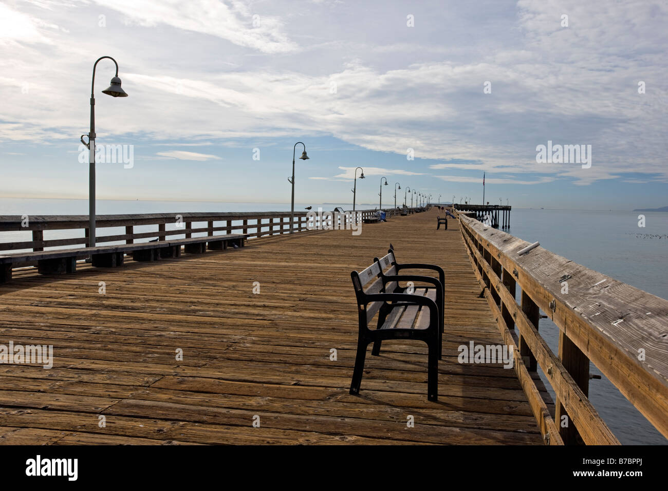 The Ventura California Pier,1958' longest wooden pier in California. Built in 1872 and reconstructed several - Stock Image
