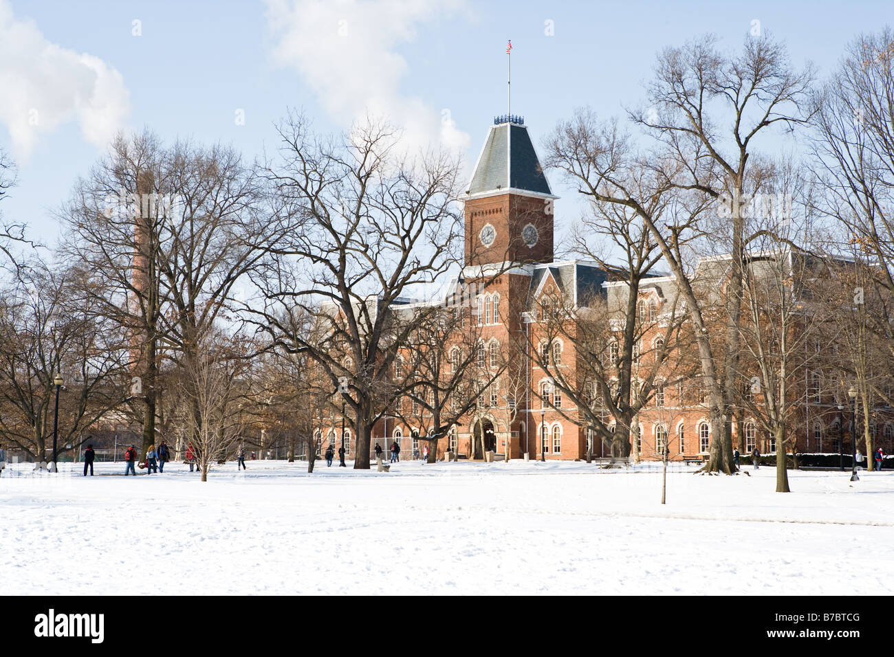 University Hall On The Ohio State Campus On A Cold Winter Day