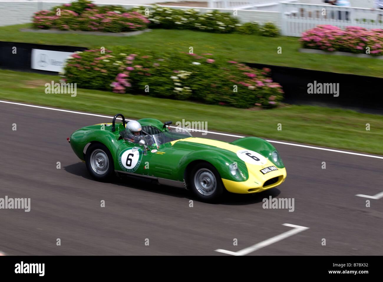 Vintage Jaguar Racing Car