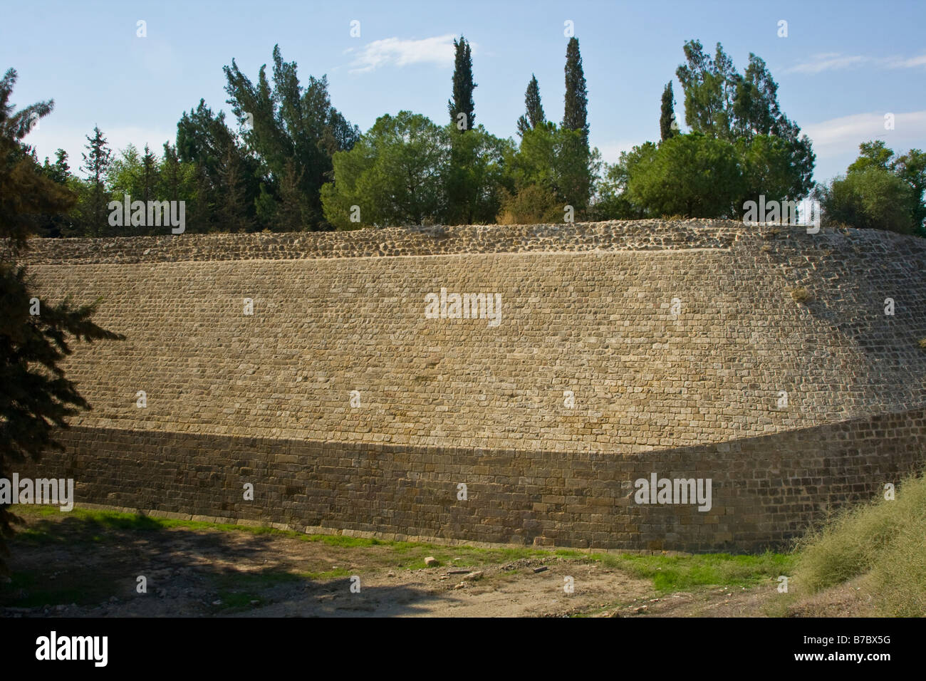 Venetian Built City Wall around Nicosia in Cyprus Stock Photo