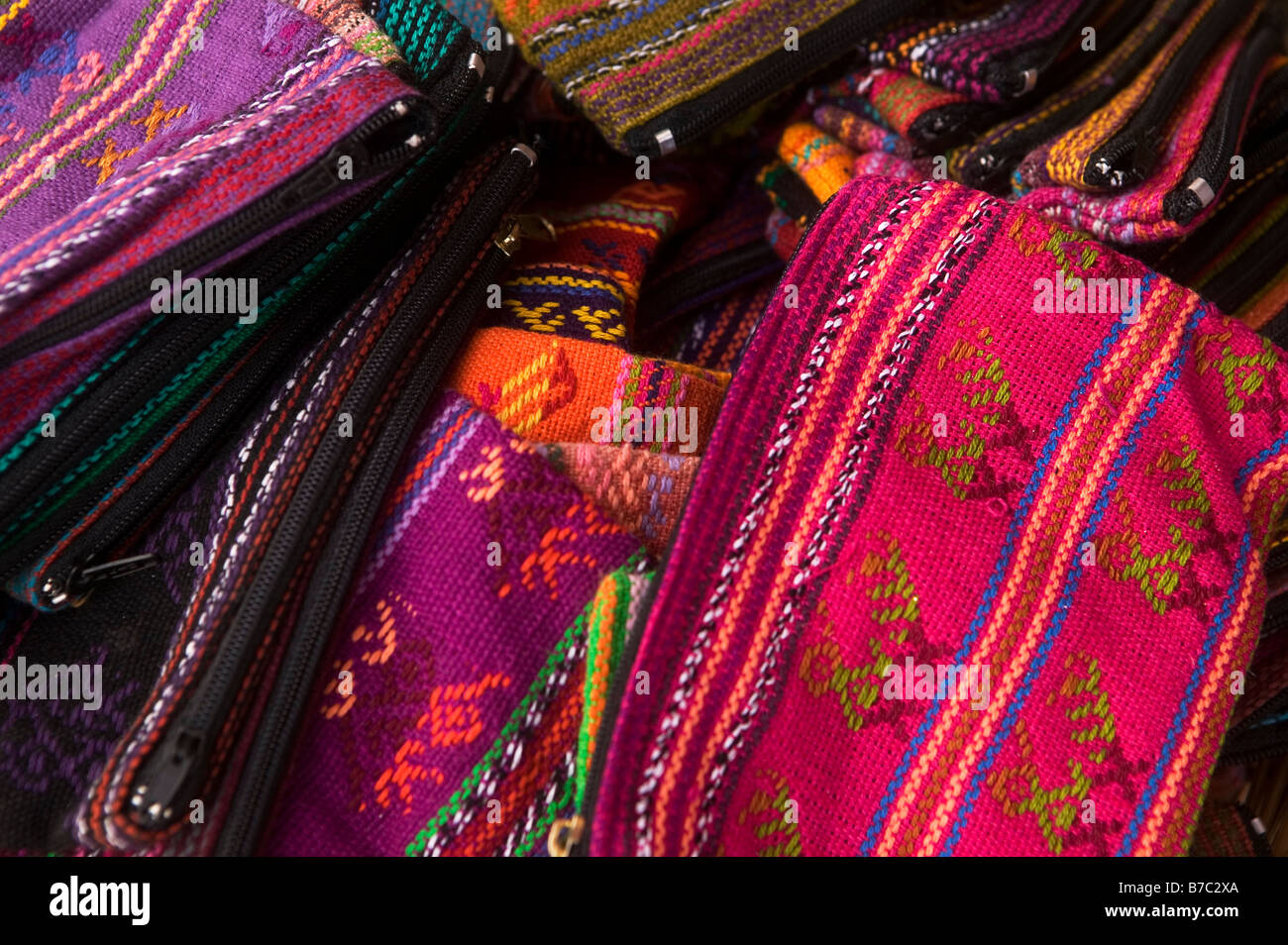 Small Zippered Bags - Stock Image