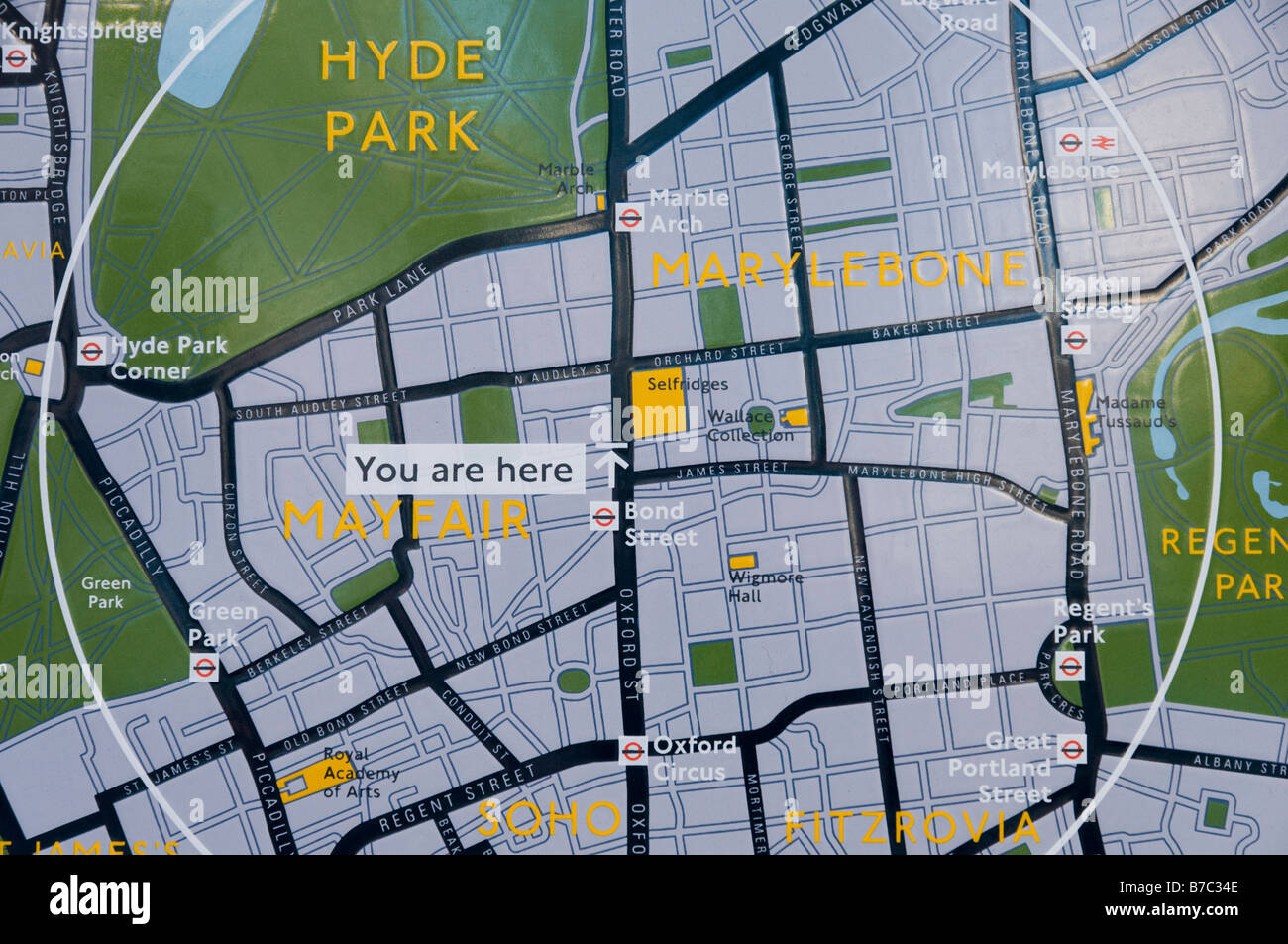 you are here map of the west end of london england uk