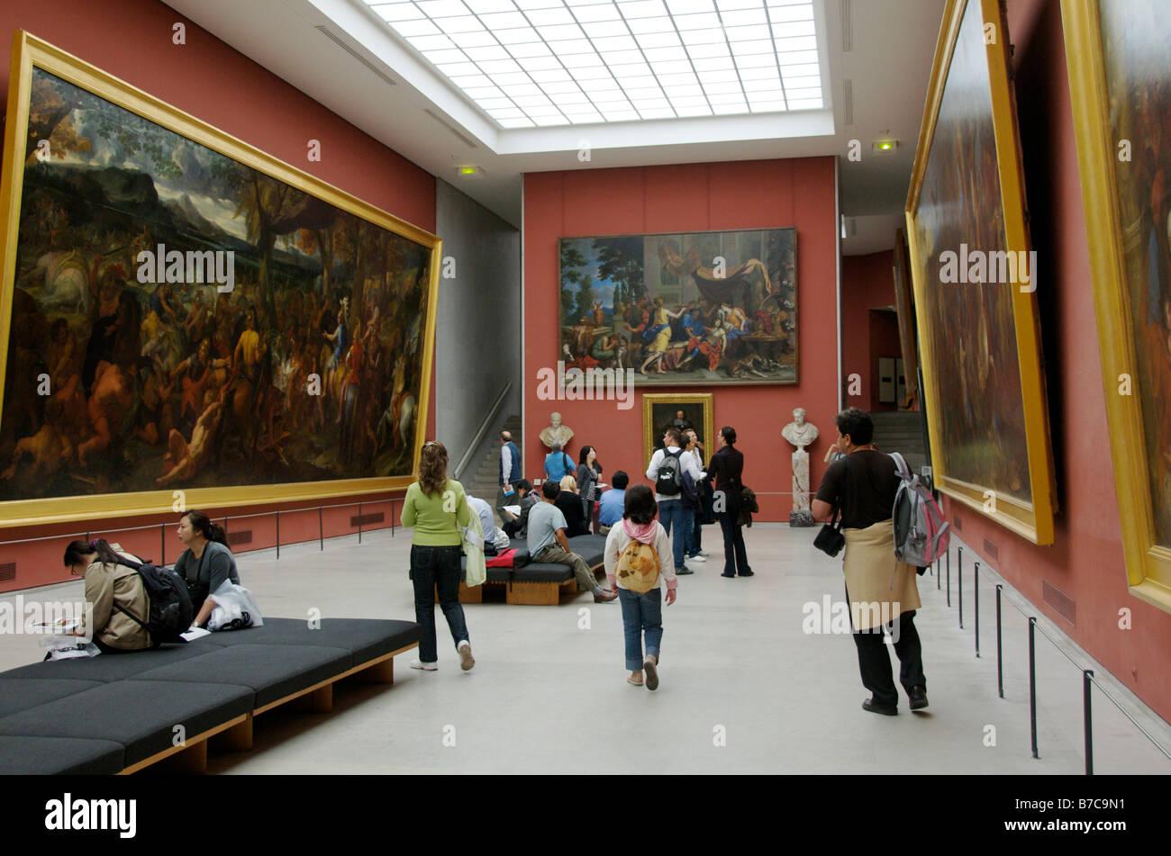 Louvre gallery. Paris, inside the art gallery - Stock Image