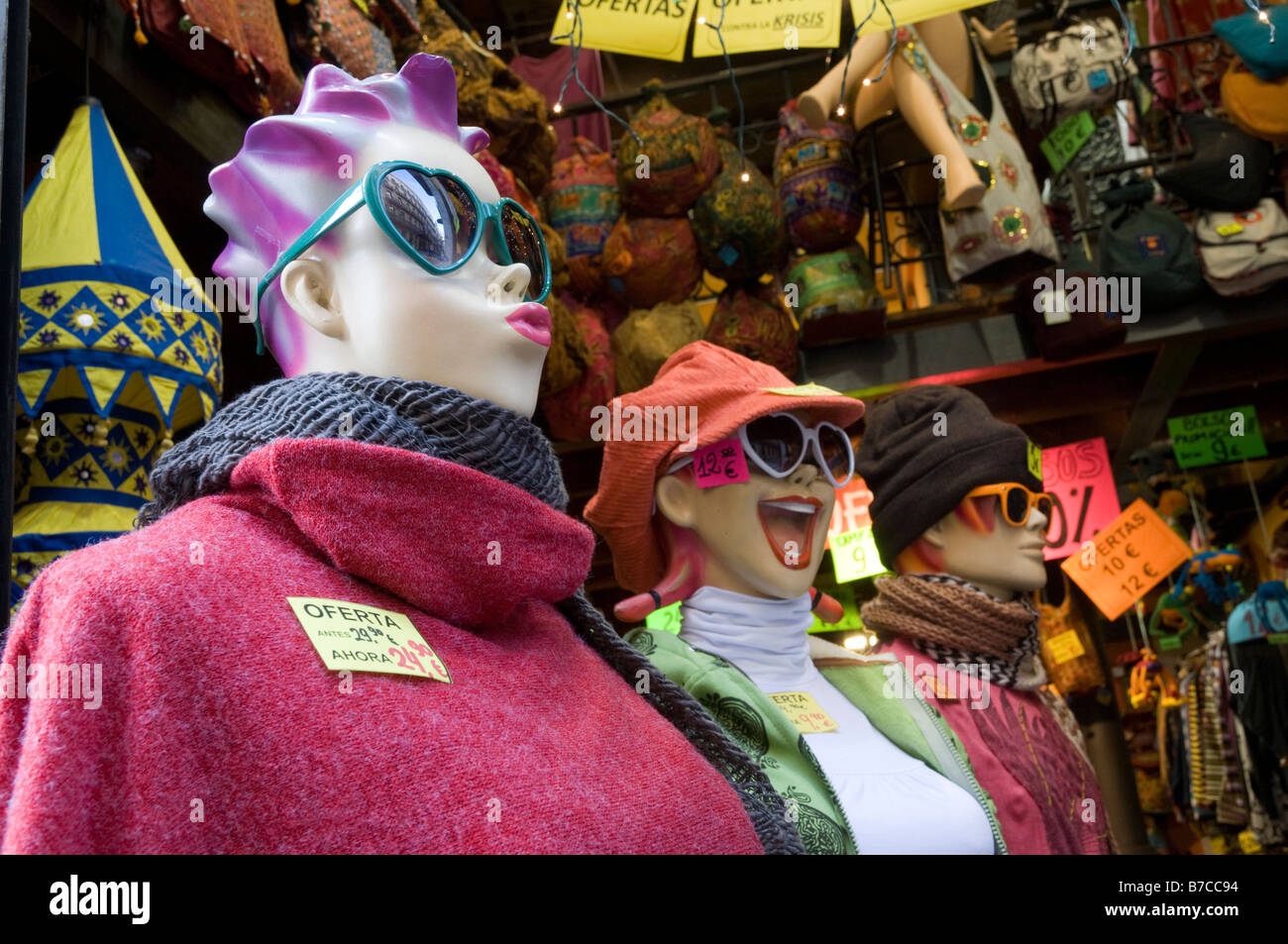 Mannequins in a women s clothes shop 2ca31f7aab