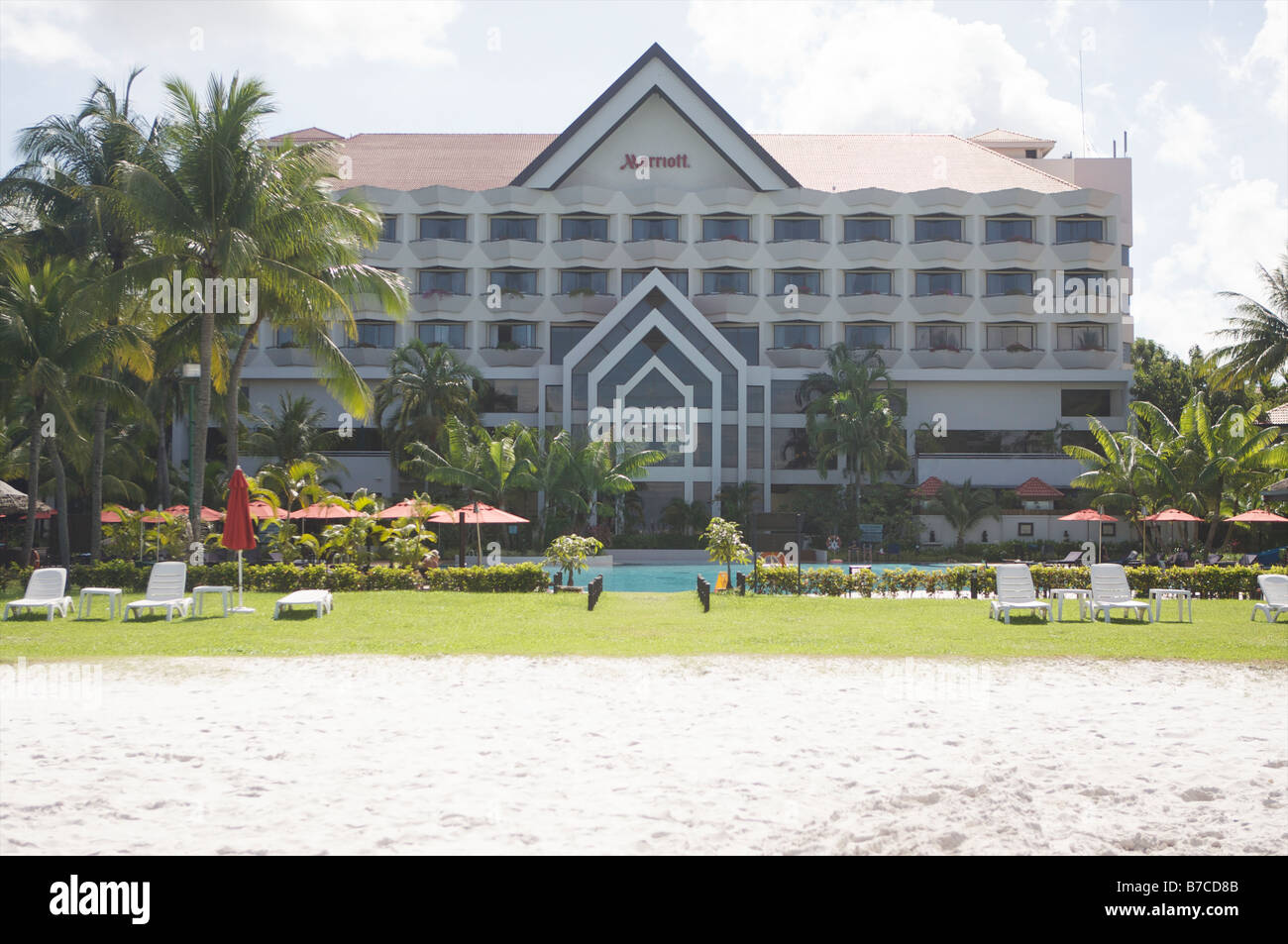 Marriot hotel in the small town of Miri Malaysia - Stock Image
