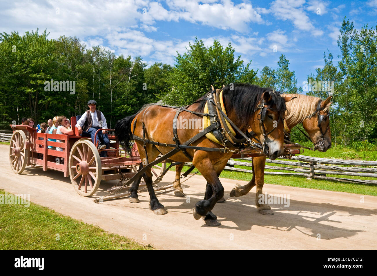 The historical Acadian Village New Brunswick Canada Stock Photo