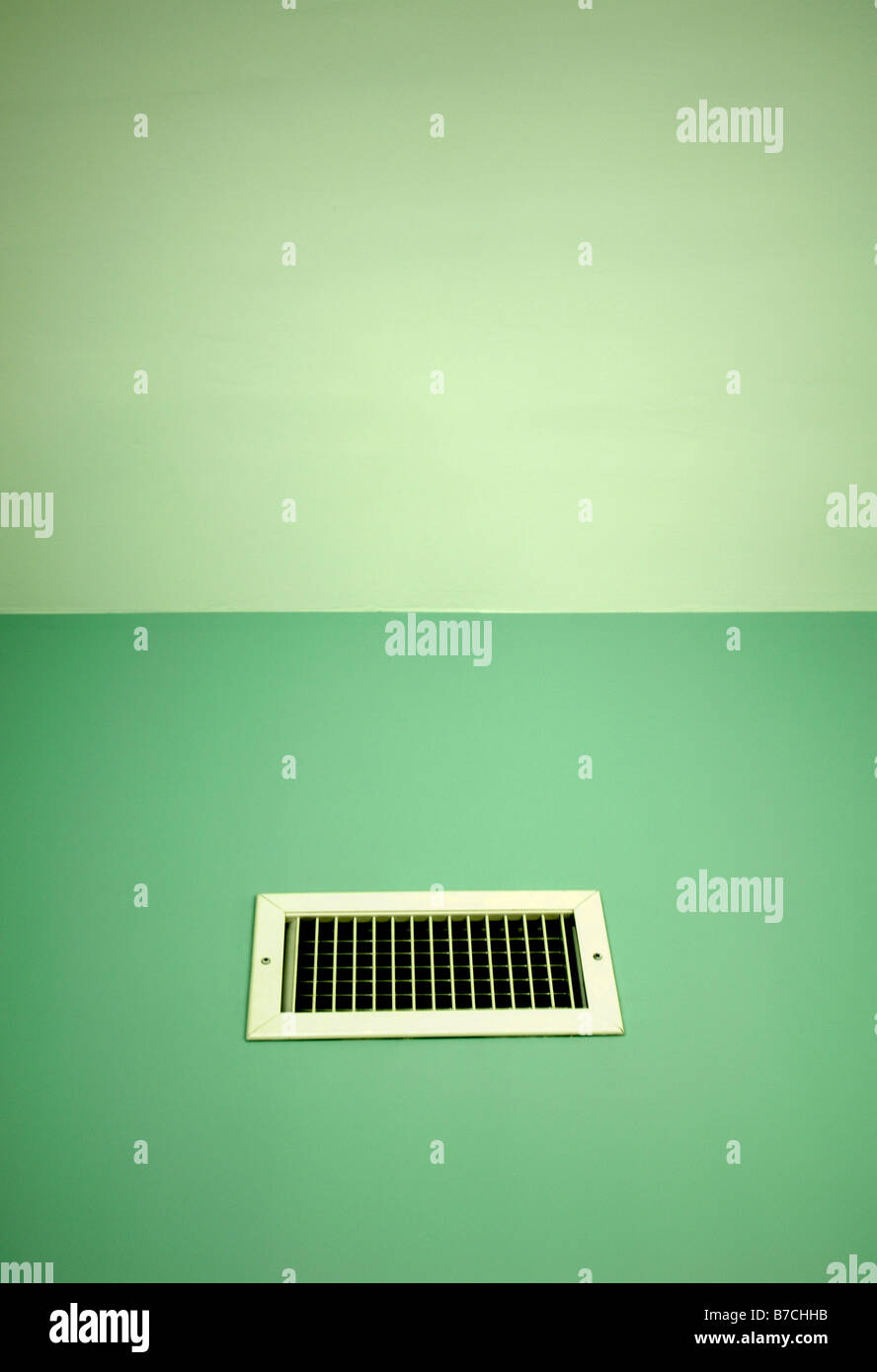 vent air green opening wind fresh house breathe - Stock Image