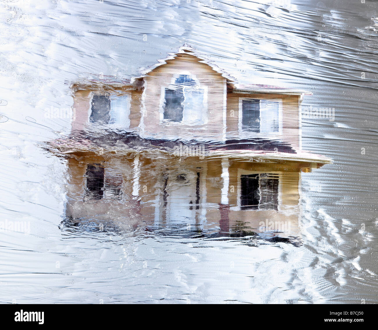 The sale of Properties are frozen during the recession. - Stock Image