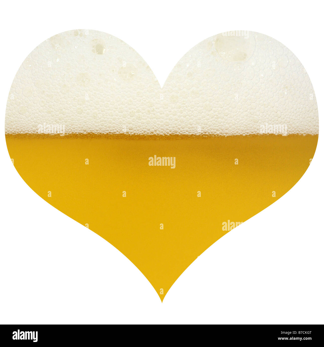 Love for beer - Stock Image