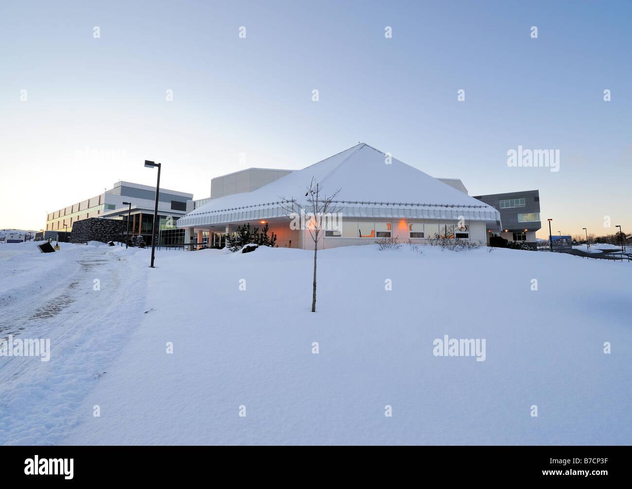 this is the new medical school at Laurentian University, Sudbury, Ontario, Canada - Stock Image