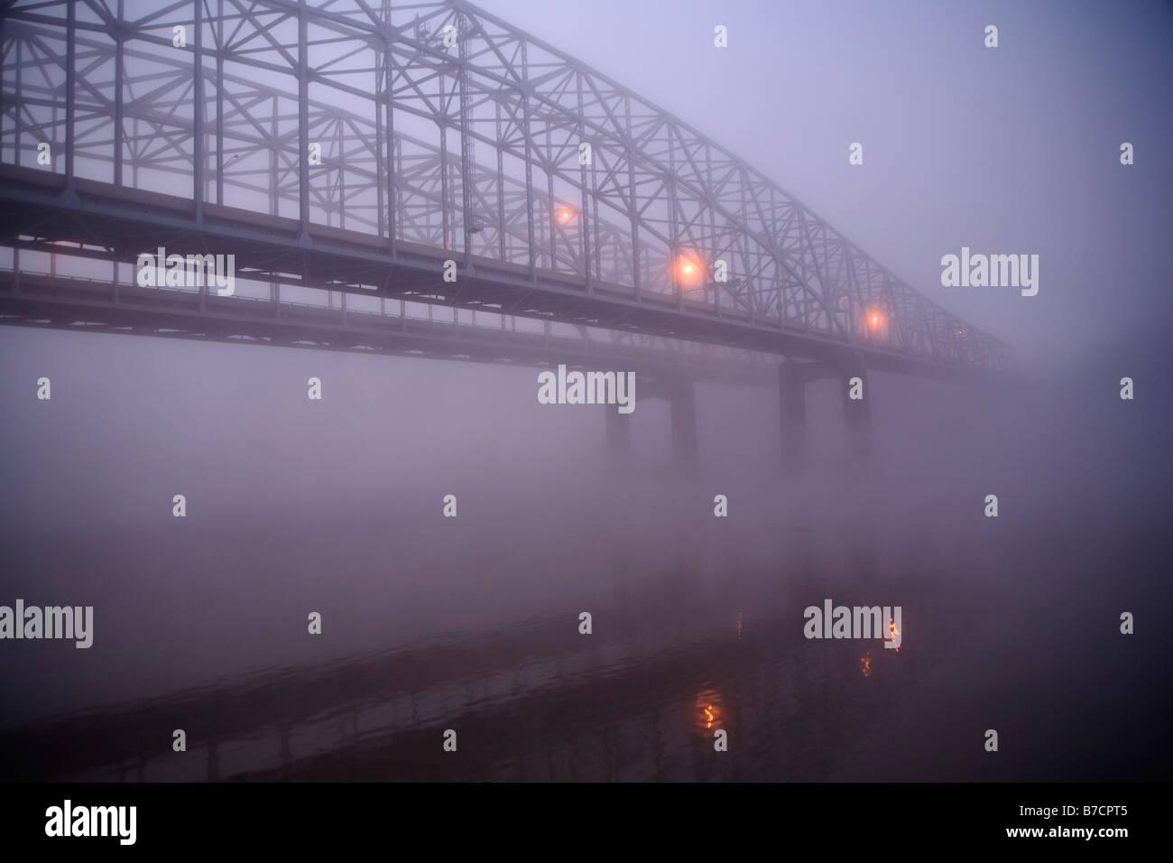 Missouri River Bridge - Stock Image