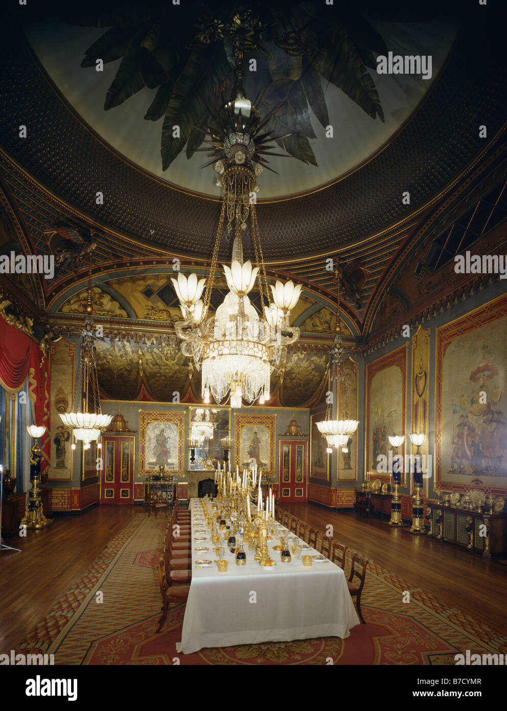 Banqueting Room Royal Pavilion Brighton Stock Photos