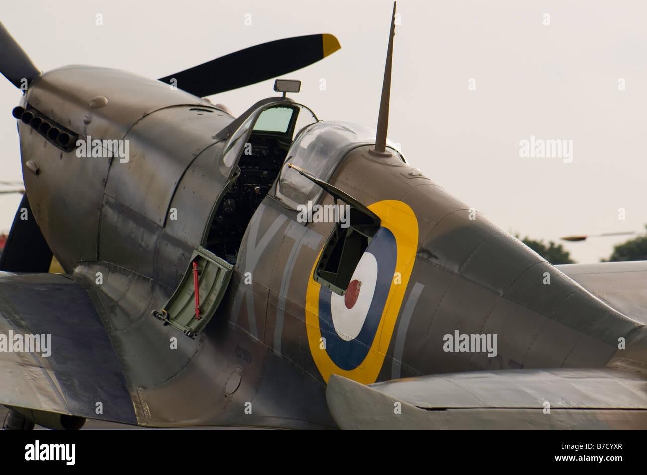 British World War Two fighter aircraft Hawker Hurricane at Biggin hill Air Fair June 2008 - Stock Image