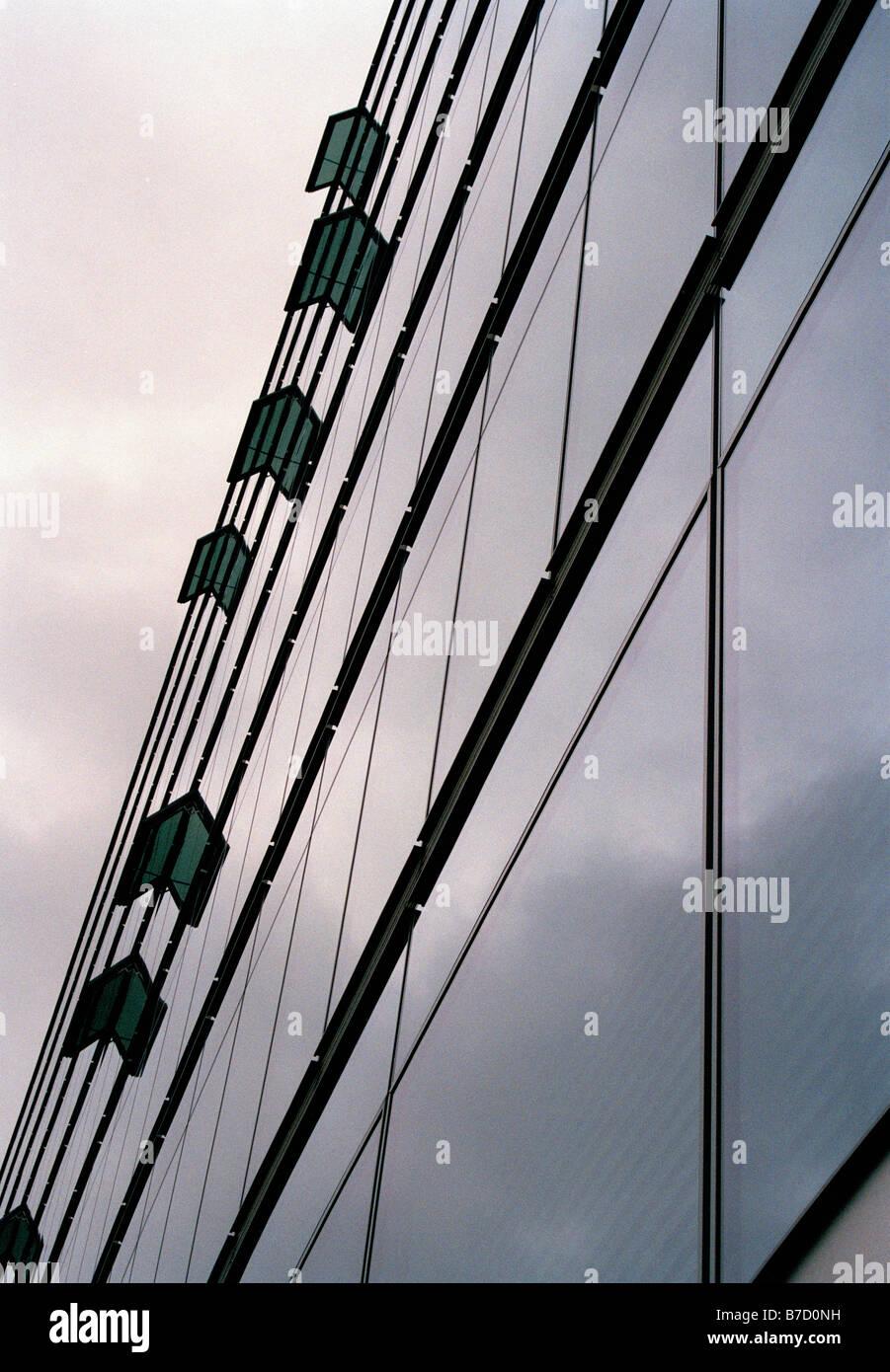 A skyscraper, unusual angle - Stock Image