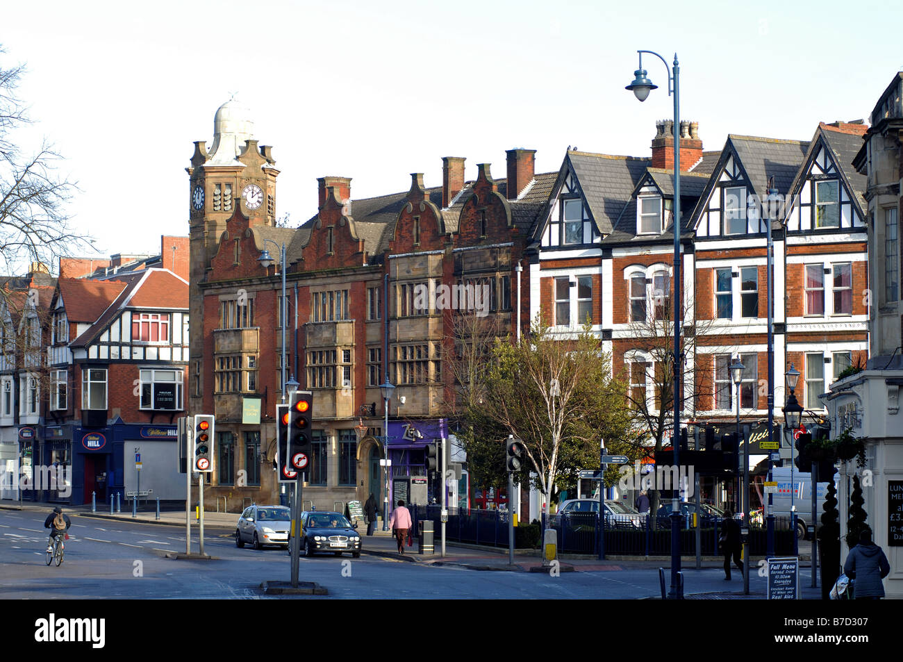 Moseley village centre, Birmingham, England, UK Stock Photo