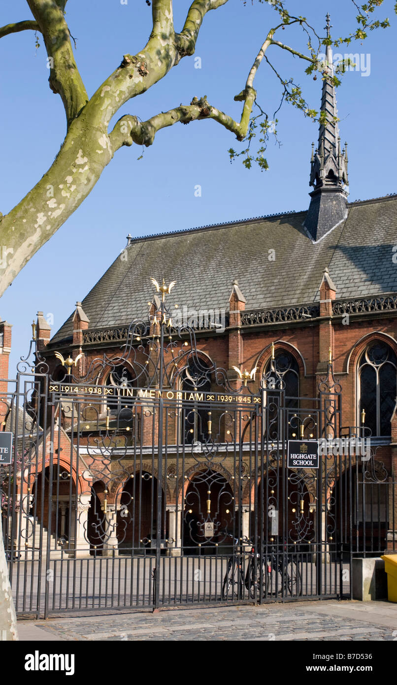 Historic Highgate School North London - Stock Image