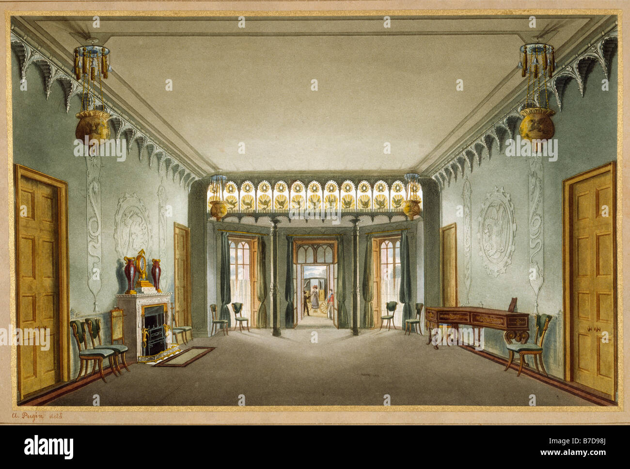 Royal Pavilion  Brighton Entrance Hall Nash & Pugin - Stock Image