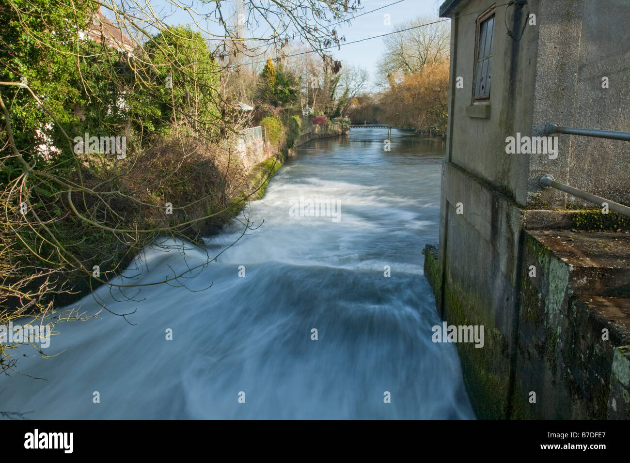 River Kennet at Padworth Mill near Reading Berkshire Uk - Stock Image