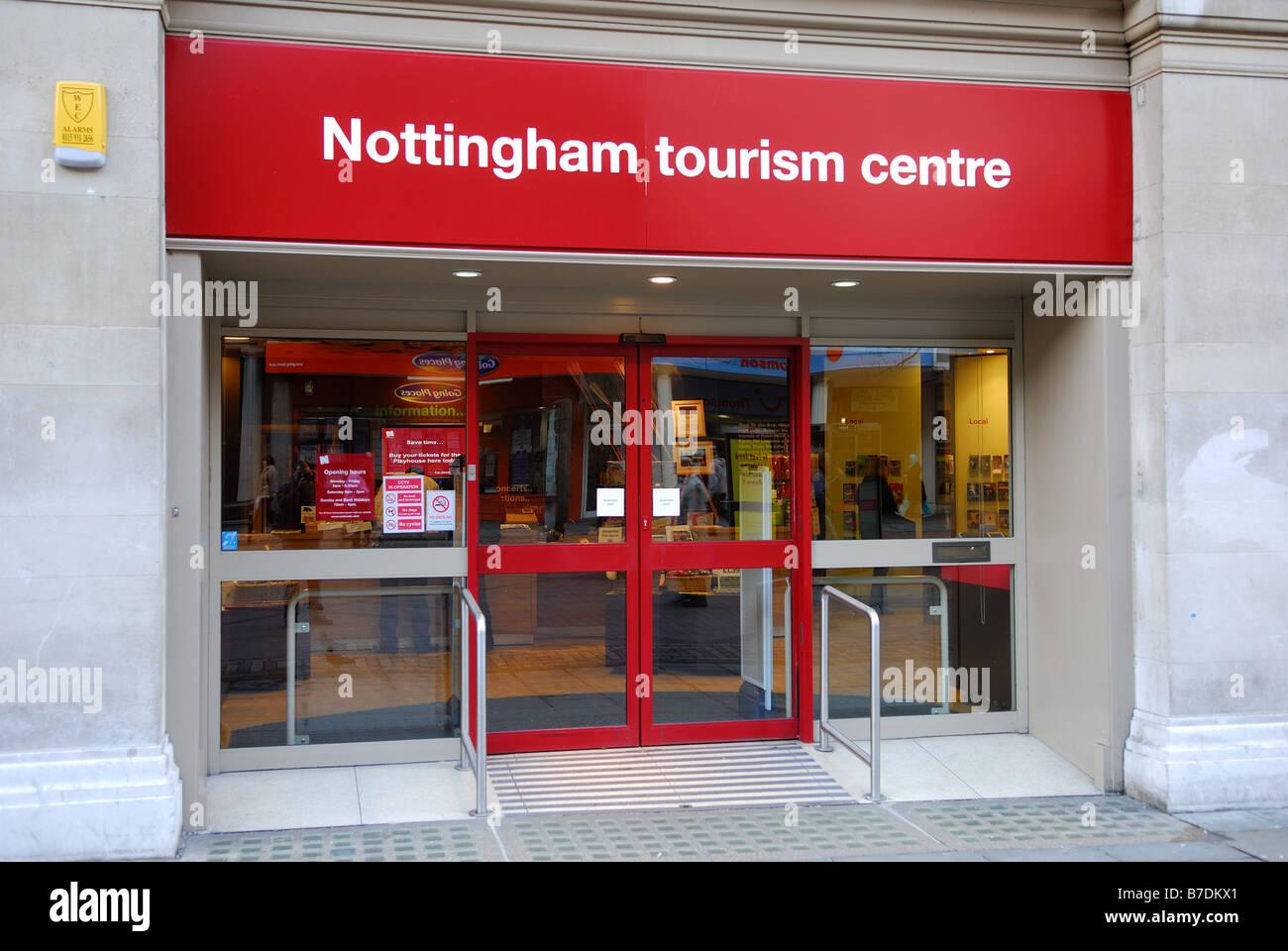 Nottingham Tourist Centre. - Stock Image