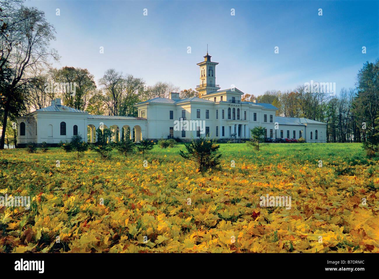Tyszkiewicz (Tiškevičius, Tiškevičiai) manor at Astravas near Birzai Lithuania - Stock Image