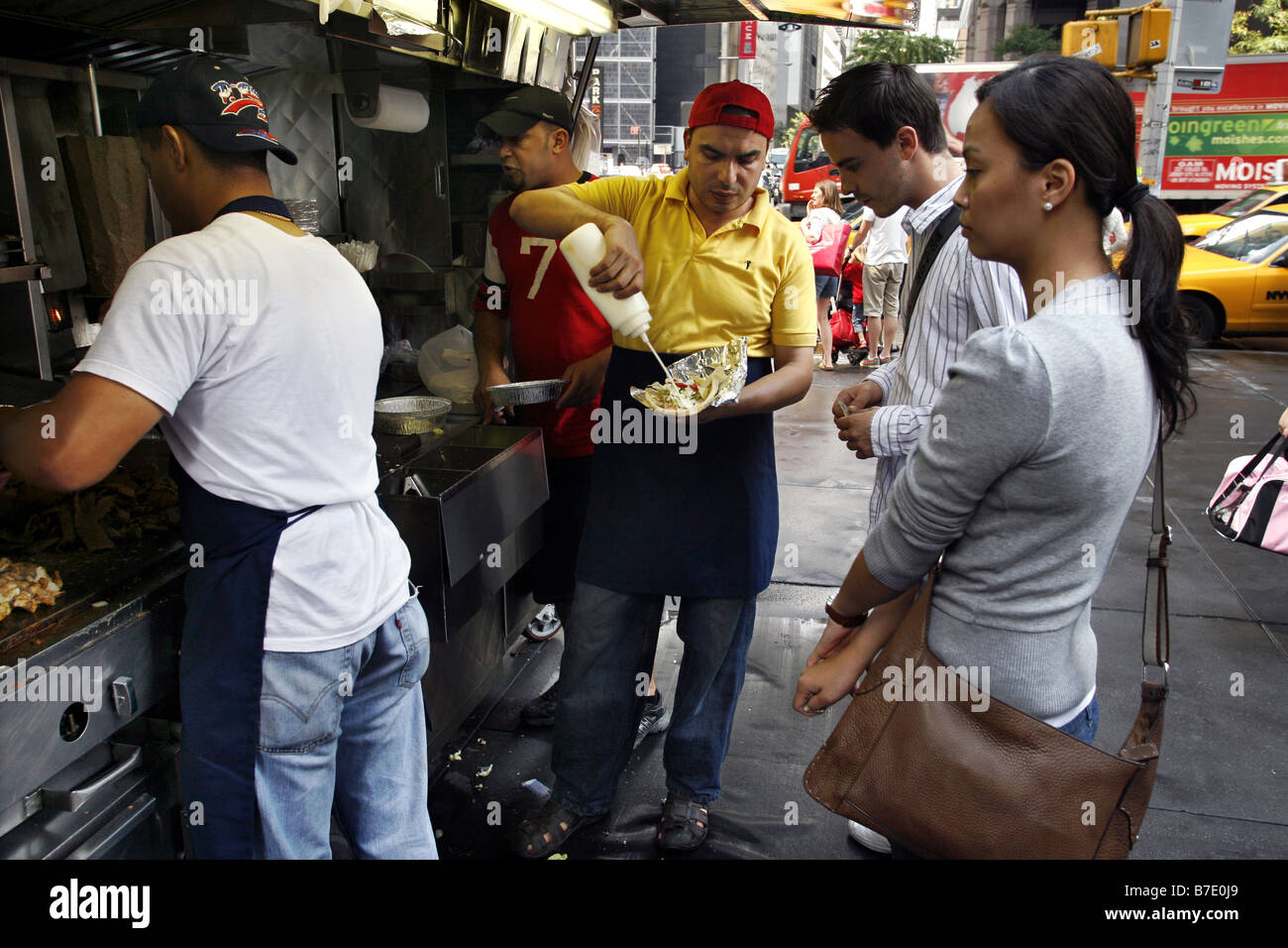 Kebab Stand & Street Vendor, New York City, USA - Stock Image