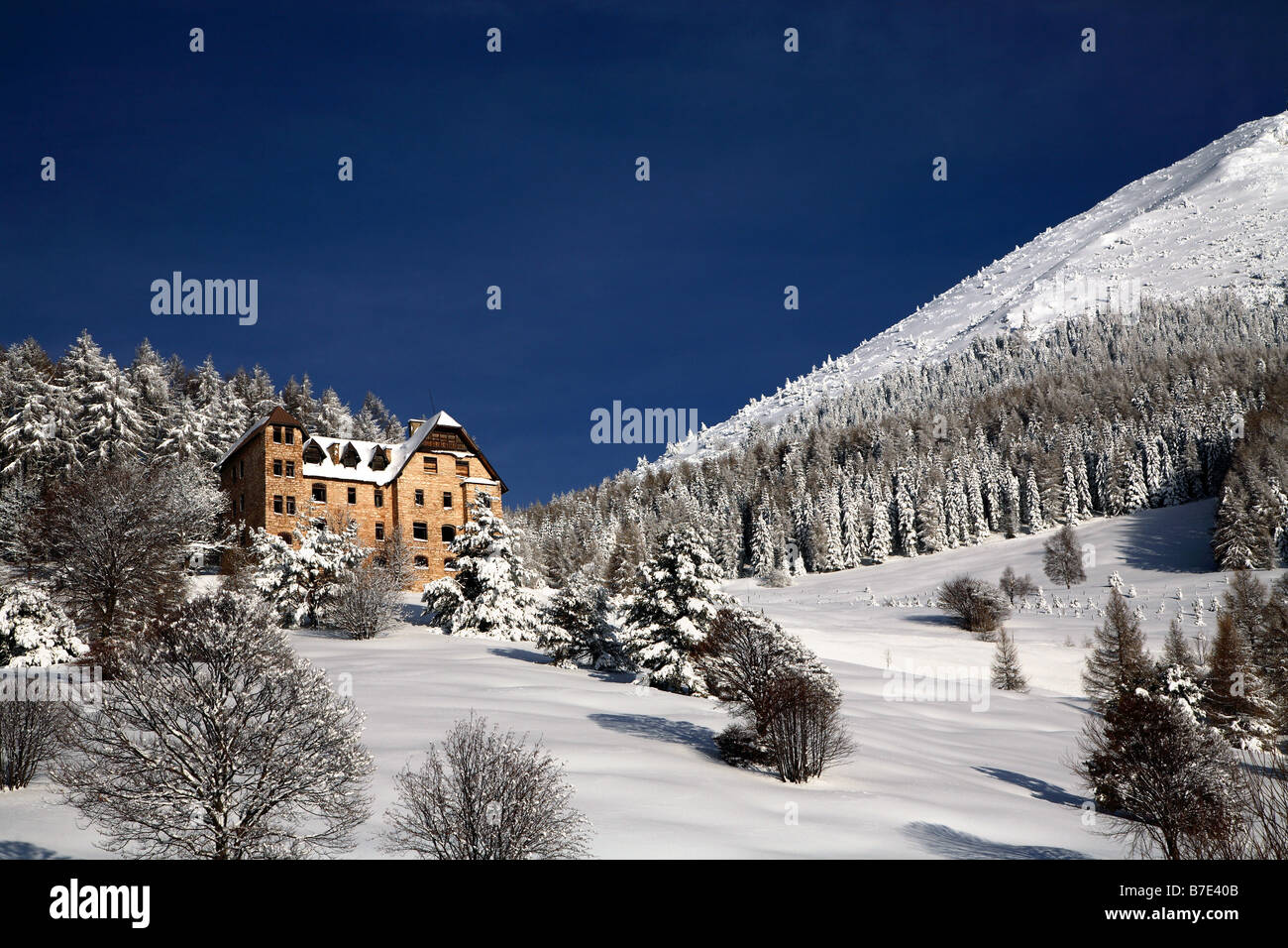 Austro-Hungarian barracks, Piana delle Viote, Bondone mountain, Trentino Alto Adige, Italy - Stock Image