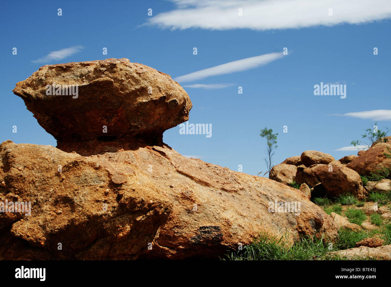 Boulders in Alice Springs Daytime in the Outback Northern Territory - Stock Image