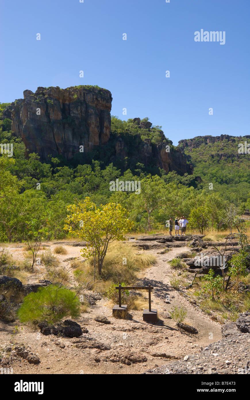 View from Nourlangie Rock looking East towards Arnhem Land in Kakadu National Park Stock Photo