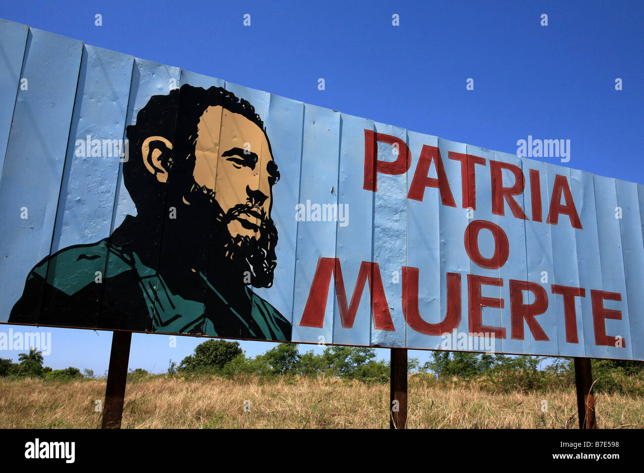Politic poster, Cuba island, West Indies, Central America - Stock Image