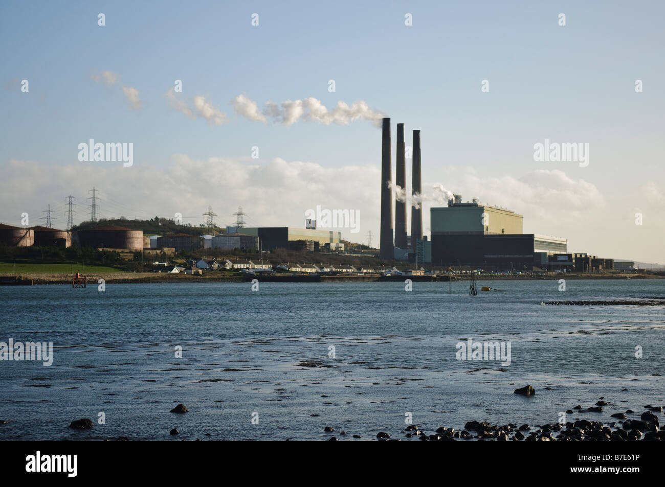 Ballylumford Power Station - Stock Image