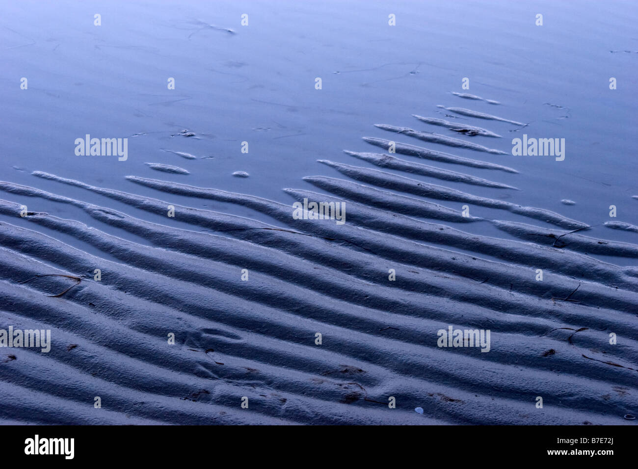 Patterns on beach - Stock Image