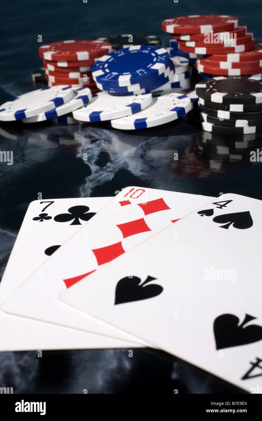 card game, pontoon, twenty one - Stock Image