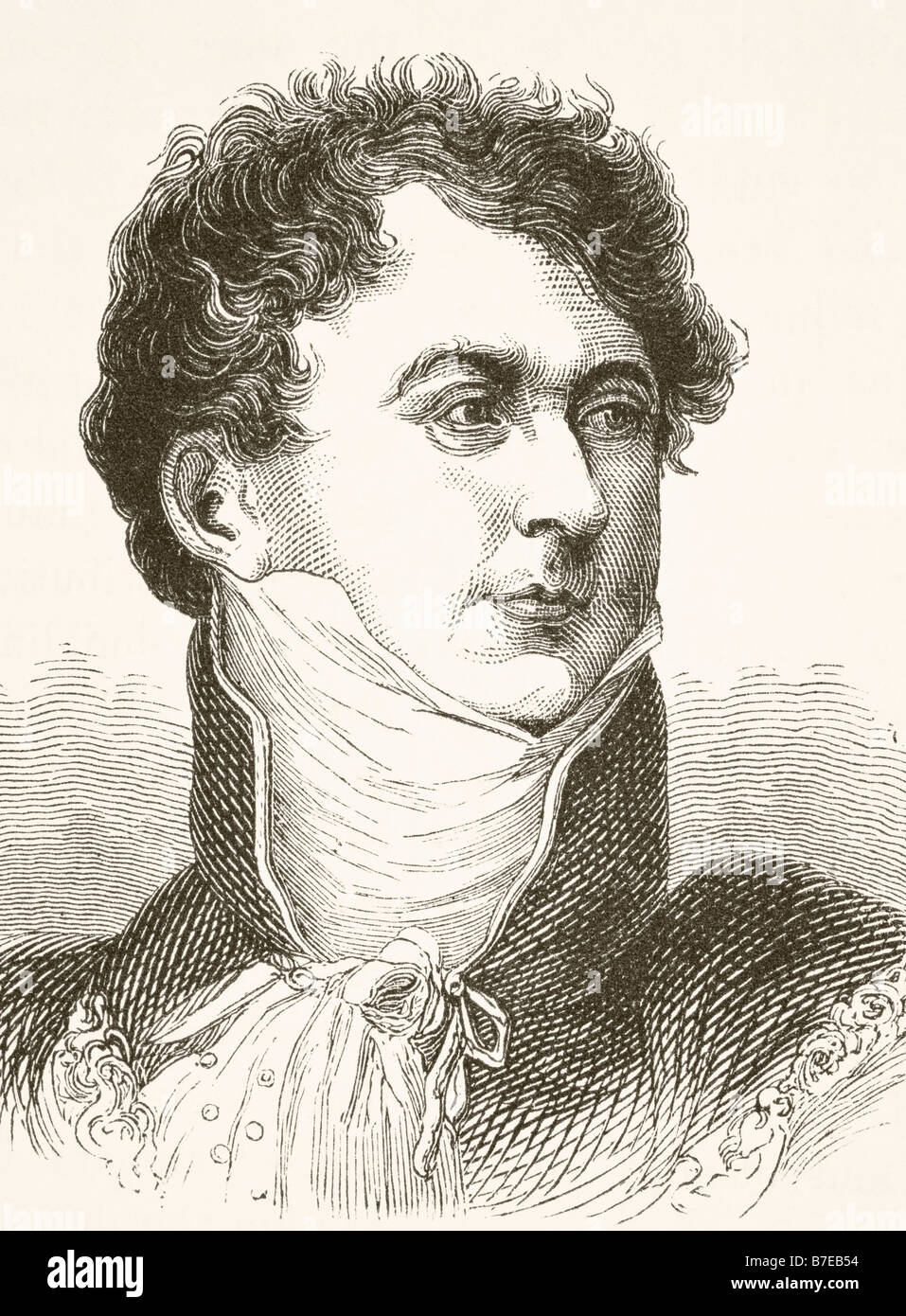 George IV 1762 1830 King of Great Britain and Ireland and King of Hanover - Stock Image