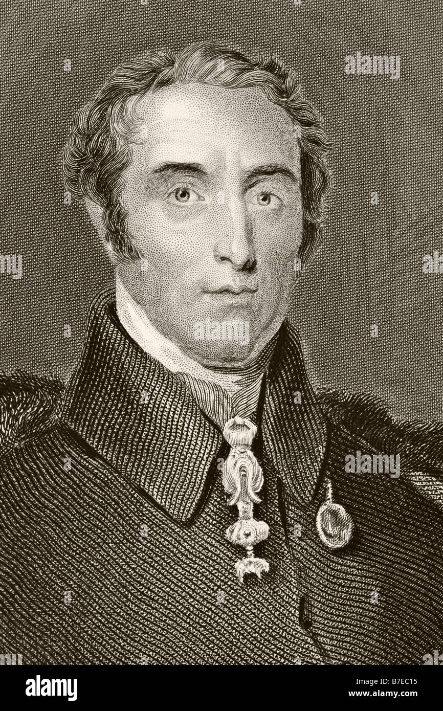 Arthur Wellesley, 1st Duke of Wellington, 1769 - 1852.  British soldier and statesman - Stock Image