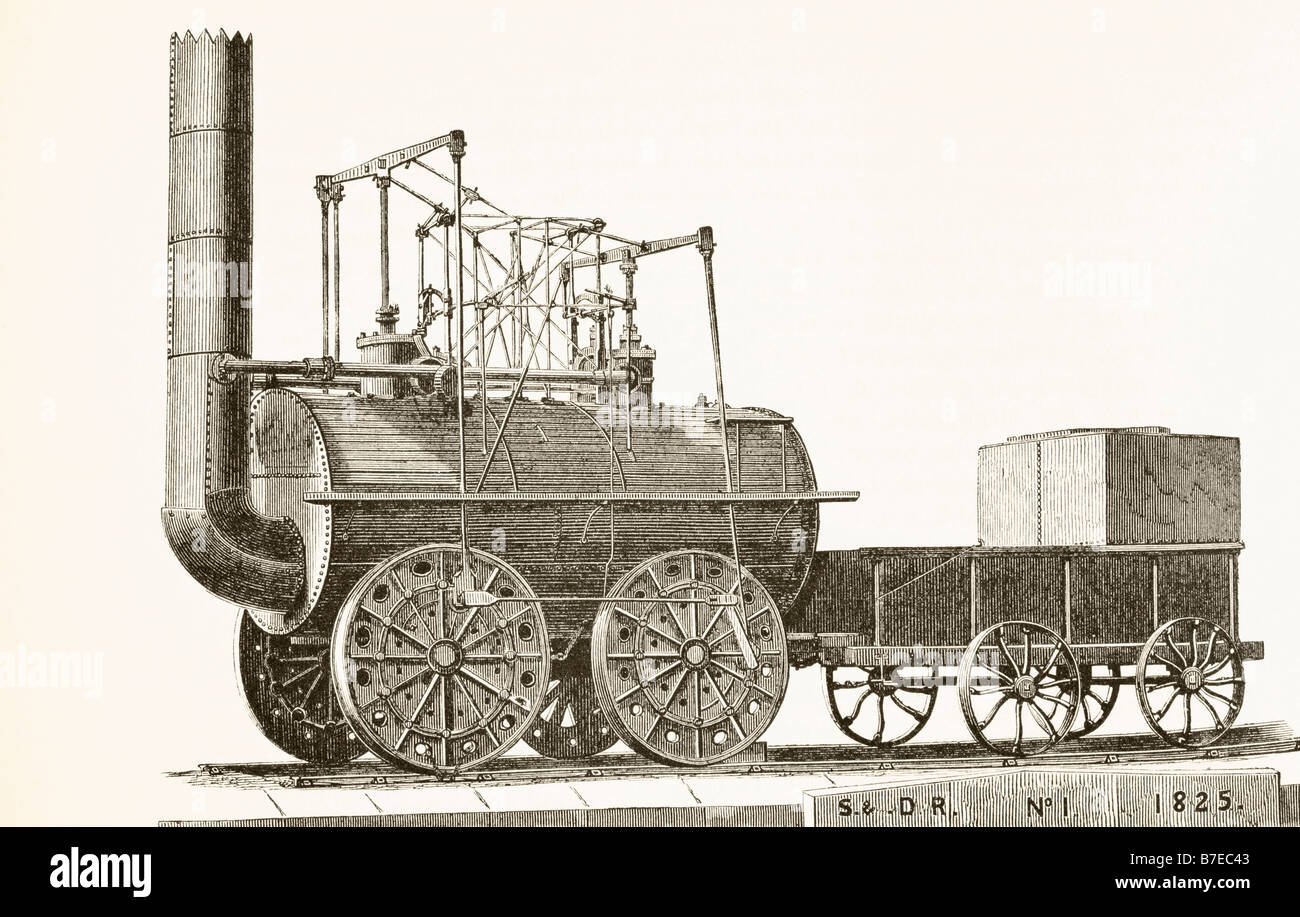George Stephenson s train of 1825 originally called Active and later  renamed Locomotion