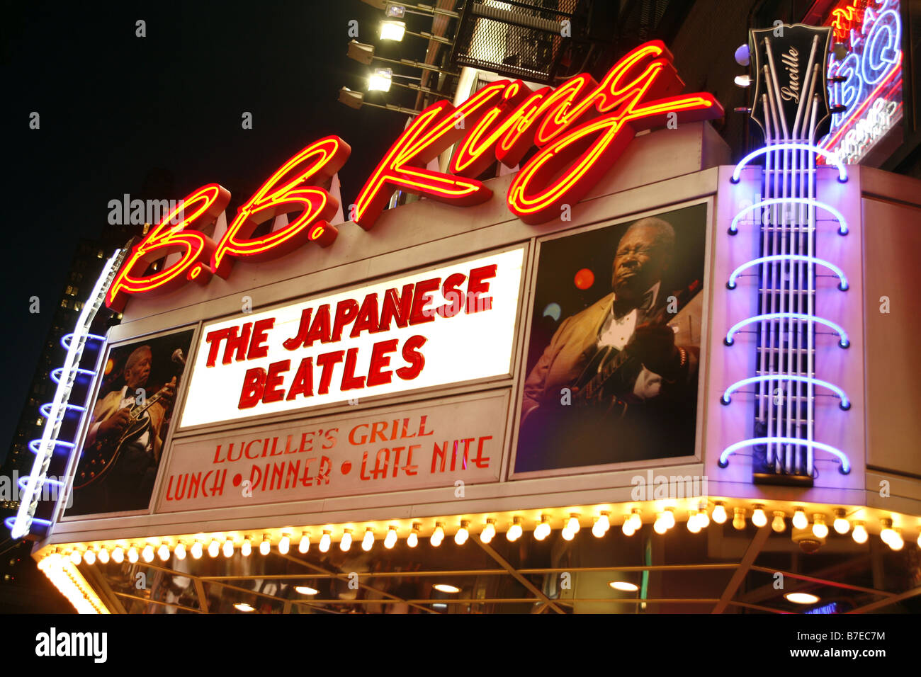 B. B. King Blues Club, New York City, USA Stock Photo