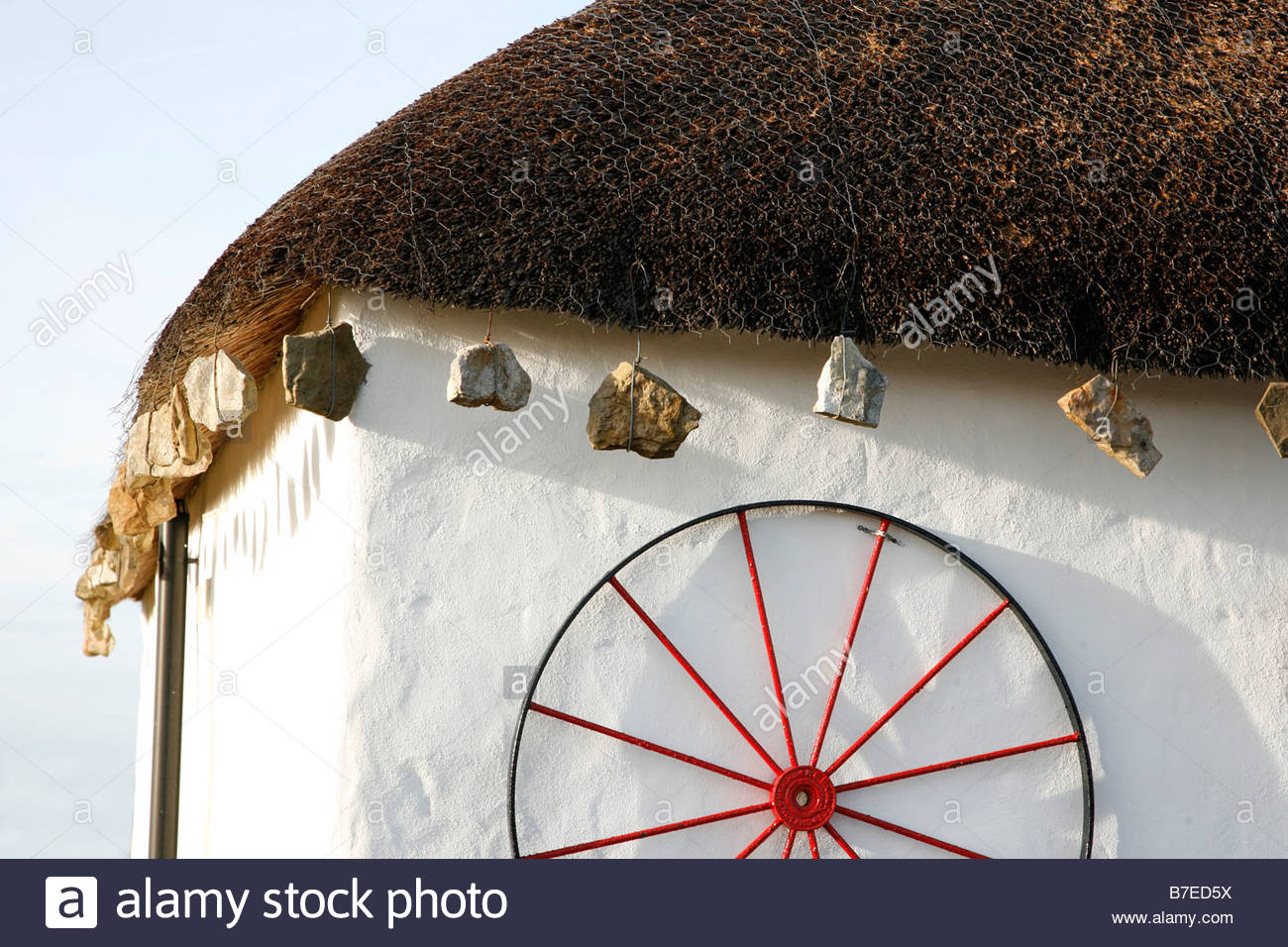 DETAIL OF PART OF A TRADITIONAL CROFT COTTAGE ISLE OF SKYE INNER HEBRIDES Stock Photo