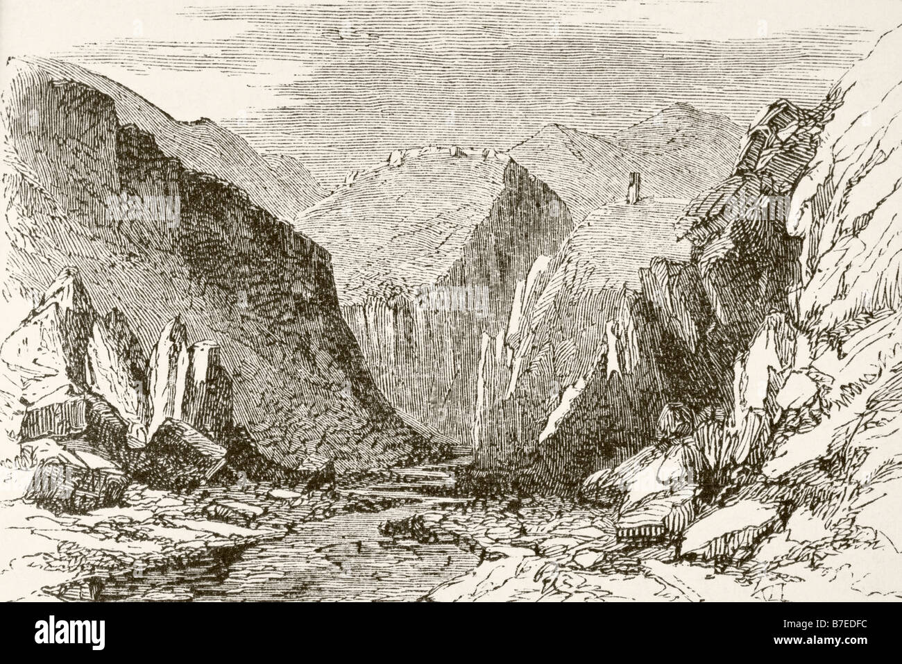 The Khyber Pass in the 1890 s - Stock Image