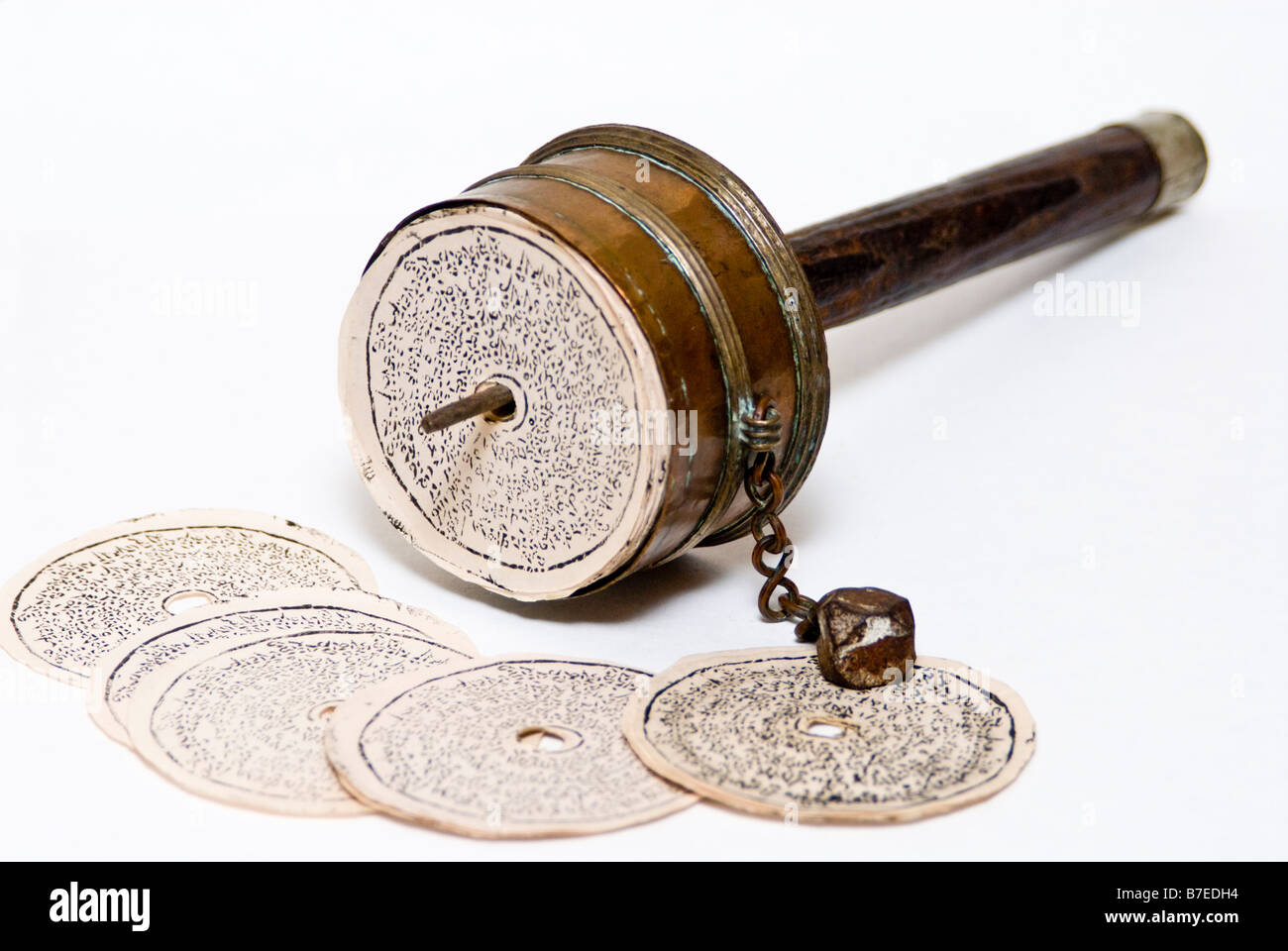 Antique Tibetan Prayer Wheel - Stock Image