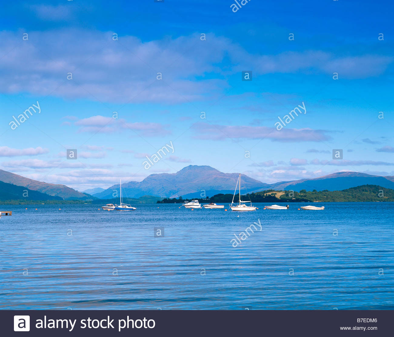 Duck Bay Marina >> Looking Across Loch Lomond To Ben Lomond From Duck Bay