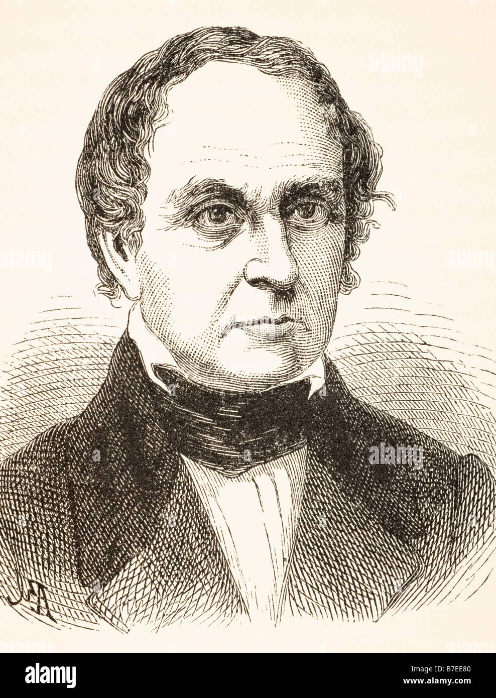 Daniel Webster, 1782 to 1852.  American lawyer, United States Senator Secretary of State and orator. Stock Photo