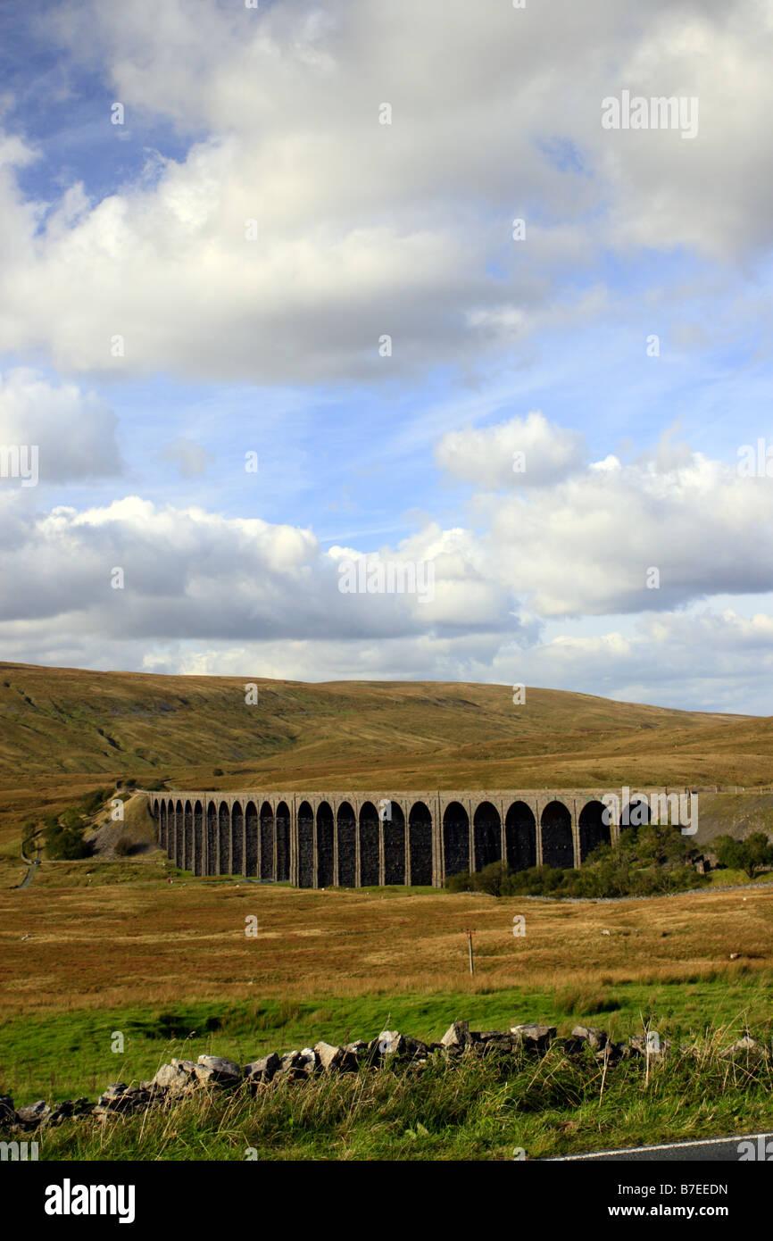 Ribblehead viaduct vertical - Stock Image