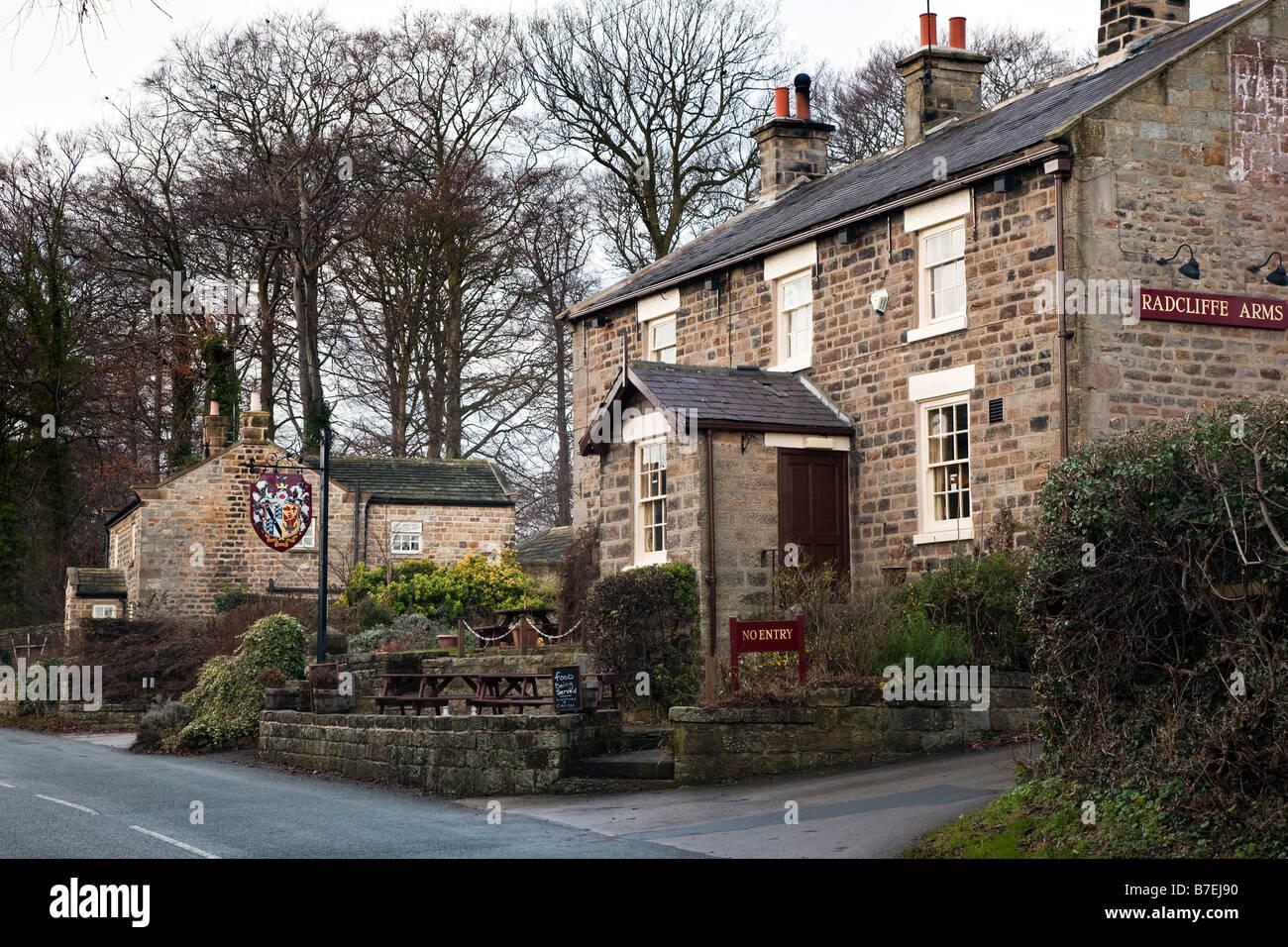 Radcliffe Arms Pannal Road Follifoot Village near Harrogate North Yorkshire Stock Photo