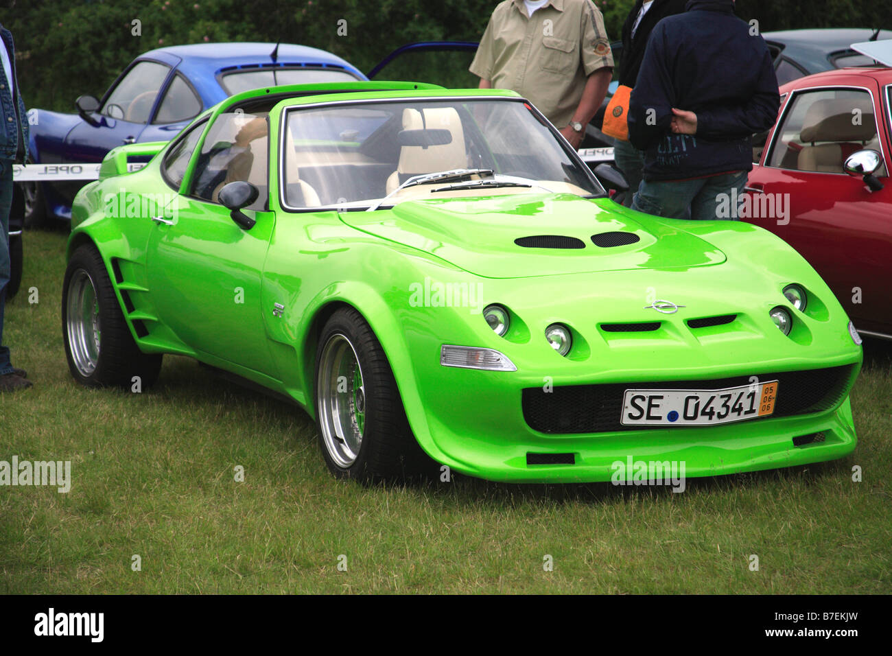 Attractive Lime Green Opel GT Classic Retro 1970 Sport Car Motor Vehicle Oldtimer  German